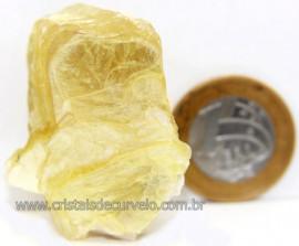 Chapa de Mica Amarela Bruta Natural de Garimpo Cod 111167