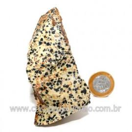 Jaspe Dalmata Pedra Natural Mineral de Esoterismo Cod123303