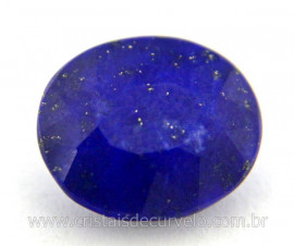 Gema Lapis Lazuli Facetado Pedra Natural 4ct 12mm Ref GL8585