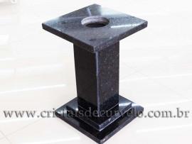 Pedestal Base ou Suporte Para Esfera em Granito Reff 109095