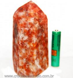 Ponta Calcita Laranja Pedra Natural de Garimpo Cod 106345