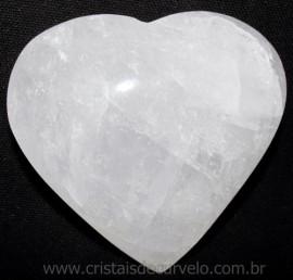 Coração Quartzo Leitoso Pedra Natural De Garimpo Cod 114975