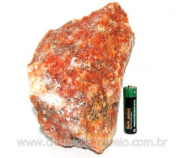 Calcita Laranja Mineral Bruto Natural Esoterismo Cod CL5847