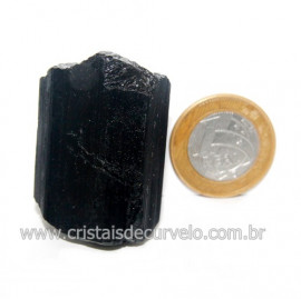 Turmalina Preta Pedra Extra Firme e Dura Natural Cod 119430