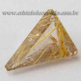 Rutilo Gema Trillion Pedra Natural Montar Prata e Ouro 112760