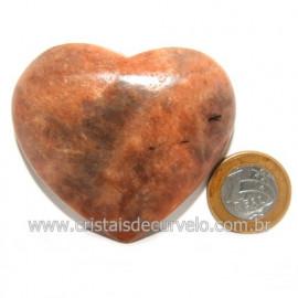 Coração Amazonita Pêssego Pedra Natural de Garimpo Cod 119063