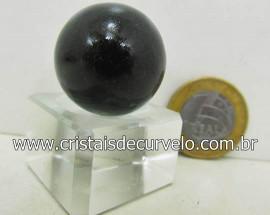 01 Mini Bola Cristal Negro Esfera Pedra Natural e Pequena Cod 27.5