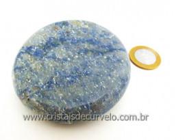 Massageador Disco Cristal Quartzo Azul Massagem Terapeutica Com Pedras Cod 181.3