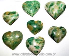 20 Coração Pedra Jade Verde Natural 4.7 a 6.5cm ATACADO