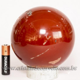 Esfera Jaspe Vermelho Pedra Natural Esfera Grande 1.4kg Cod 125462