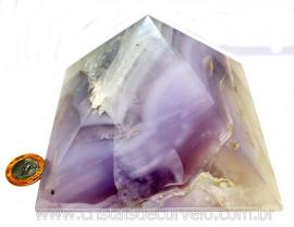 Piramide Fluorita Tamanho Grande Pedra Natural de Garimpo Baseada Queops Cod 2.362
