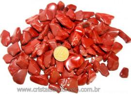 1kg Jaspe Vermelho Rolado Pequeno Pedra Natural Reff 108145