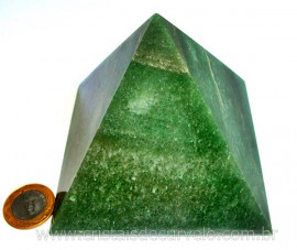 Pirâmide GRANDE Pedra Quartzo Verde Natural Queops cod PG6646