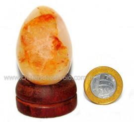 Ovo Hematoide Amarelo Mineral Natural de Garimpo Cod OH2658