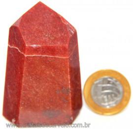 Ponta Quartzo Vermelho Natural Gerador Sextavado Cod 107330