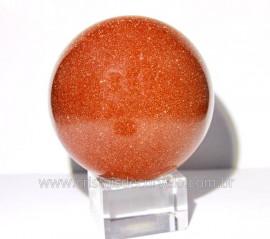 Esfera Pedra Do Sol Pigmento Ouro Cintilante Cod PS6907
