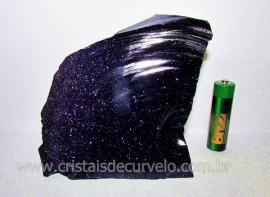 Pedra Estrela Pigmento Dourado Para Lapidar Colecionador ou Esoterismo Cod 427.9