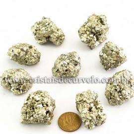 20 Pirita Peruana 30mm Pedra Bruta Natural P/ Orgonite ATACADO