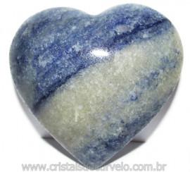 Coração Quartzo Azul Pedra Natural de Garimpo Cod 114995