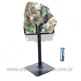 Esmeralda Canudo Pedra Natural com Suporte De Ferro Cod 121536