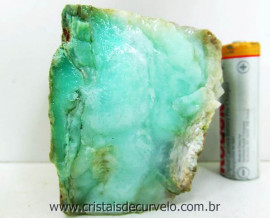 Crisoprasio Verde Pedra Bruto Natural de Garimpo Mineral Grupo Calcedonia Cod 238.3