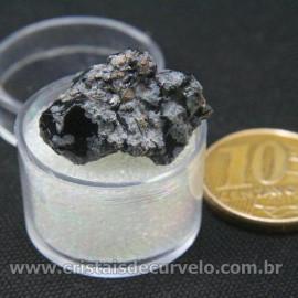 Obsidiana Flocos de Neve Pedra Natural Amostra Estojo Cod 126966