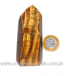 Ponta Olho de Tigre Pedra Extra Natural de Garimpo Cod 119119