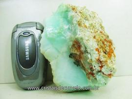 Crisoprasio Verde Pedra Bruto Natural de Garimpo Mineral Grupo Calcedonia Cod 395.2