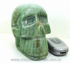 Cranio Pedra Dolomita Verde Caveira Esculpido Skull Stone Cod 1.758