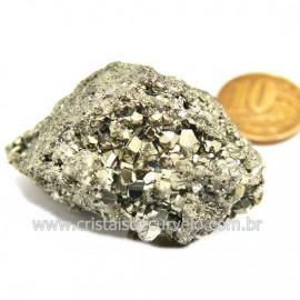 Pirita Peruana Pedra Extra Com Belos Cubo Mineral Cod 124218