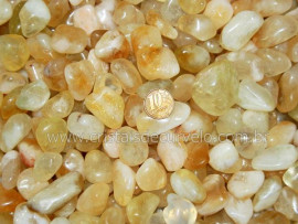 1 kg Citrino Pedra Rolado Grande Cristal Citrinado ton Amarelo REF 210040