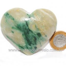 Coraçao Jade Verde Natural Origem Montes Claros MG Cod 121623