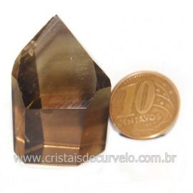 Ponta Citrino Natural e Fume Pedra Quartzo Bi Color 118127