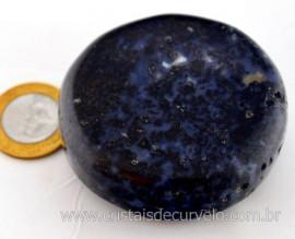 Disco Massageador Pedra AGATA NATURAL Mineral de Garimpo Cod 163.1