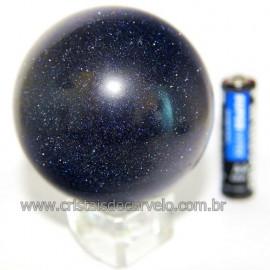 Esfera Pedra Estrela Pigmentado Cintilante Azul Cod 109488