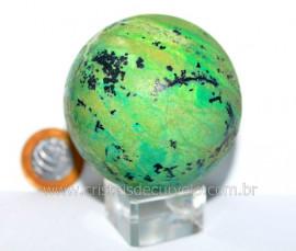 Esfera Crisocola Azul Pedra Comum Natural Garimpo Cod BC9892
