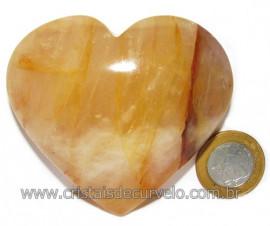 Coração Hematoide Amarelo Natural Presente Ideal Cod 116031