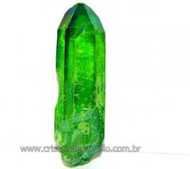 Ponta Crystal Aura Apple ou Maça Verde Pedra Bruta Cod AA1555