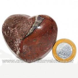Coração Pedra Quartzo Jiboia Natural Lapidação manual Cod 126878