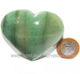 Coração Quartzo Verde Natural Comum Qualidade Cod 119828