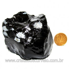 Obsidiana Flocos de Neve Pedra Vulcanica Natural Cod 114667