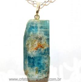 Canudo Cianita Azul Natural Montagem Prata 950 Reff 106415