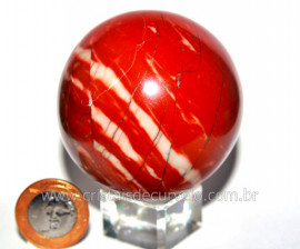 Esfera Dolomita Vermelha Pedra Mineral Natural Cod EV1138