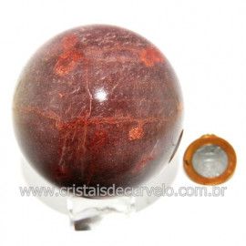 Esfera Quartzo Vermelho Natural Bola Lapidado Cod 119885