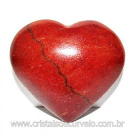 Coração Quartzo Vermelho Pedra Natural de Garimpo Cod 116012