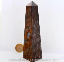 Obelisco Bronzita Pedra Natural com Lapidação Manual Cod 501.6