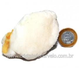 Selenita Laranja Pedra Natural Para Esoterismo Cod 123991