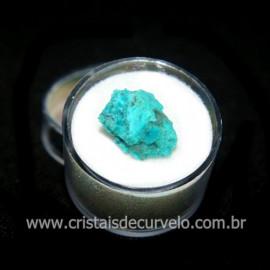 Crisocola Bruto Lasca No Estojo Mineral Natural Cod 118526