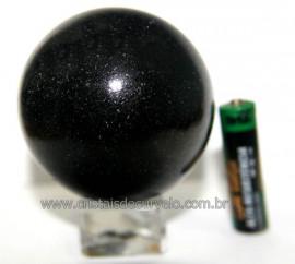 Esfera Pedra Quartzo Preto ou Quartzito Natural Cod BP3424