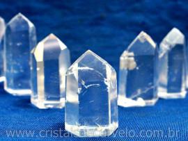 03 Unds Pontinha Gerador QUARTZO CRISTAL Pedra Extra Lapidado Tamanho 3 Cm REFF 70.4
